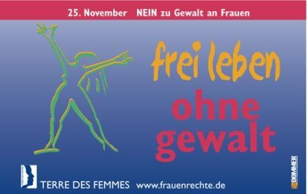 Frei leben ohne Gewalt - Eine Aktion von TERRE DES FEMMES.