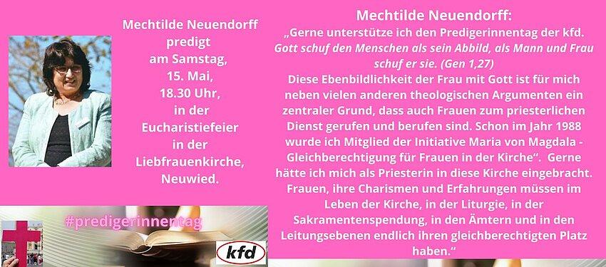 Mechtilde Neuendorff predigt anlässlich des Tages der Junia.