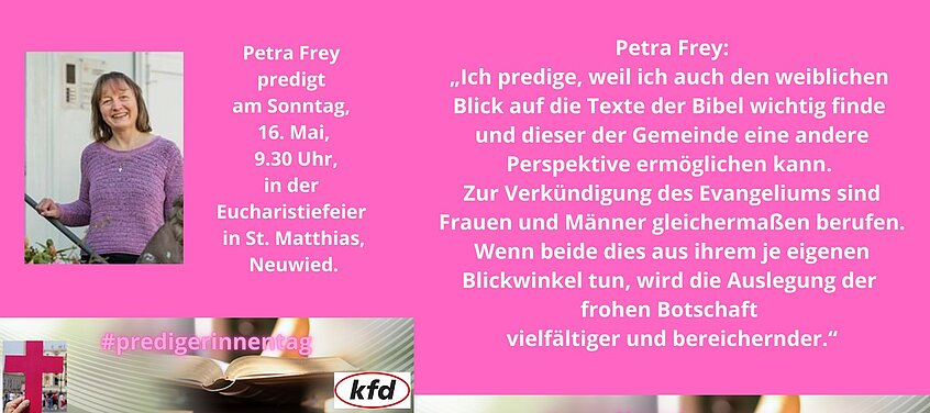 Petra Frey predigt anlässlich des Tages der Junia.