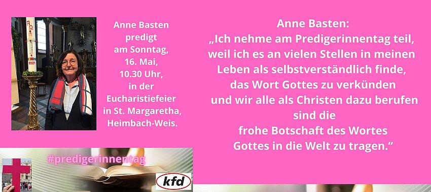 Anne Basten predigt anlässlich des Tages der Junia.