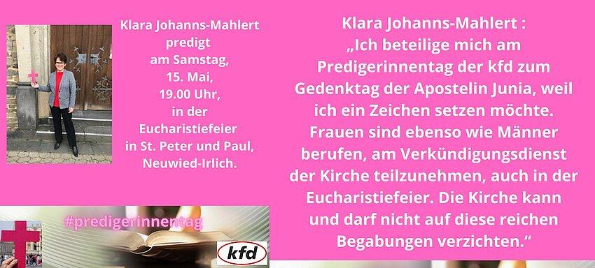 Klara Johanns-Mahlert predigt anlässlich des Tages der Junia.